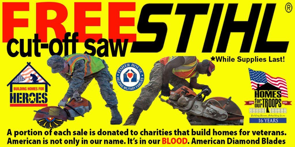 Get a STIHL cut-off saw for FREE