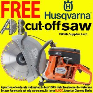 Get a Husqvarna Cutoff Saw for free